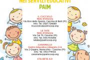 Pochi posti ancora disponibili nei servizi educativi Paim!